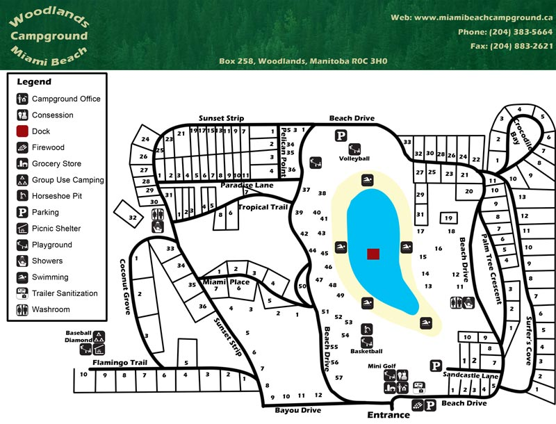 Location  Map  Woodlands Miami Beach Campground